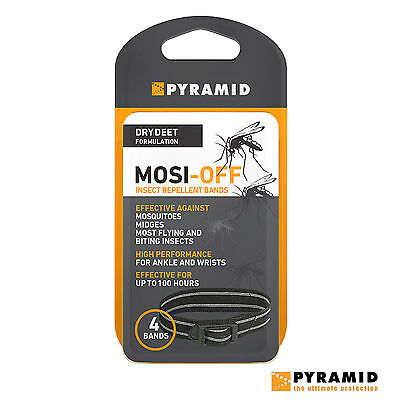 Pyramid Mosi-Off DEET Insect Repellent Mosi Off Wrist Or Ankle Bands 4 Pack