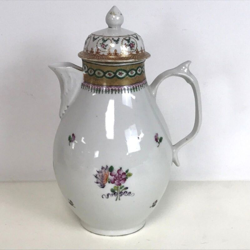 18th Century Chinese Export Porcelain Coffee Tea Pot