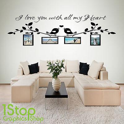 I Love You Personalisiertes Foto Wandaufkleber Zitat - Lounge Wandkunst