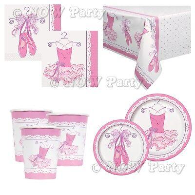 Ballerina Ballet Girls Pink Party Supplies Tableware & Decorations