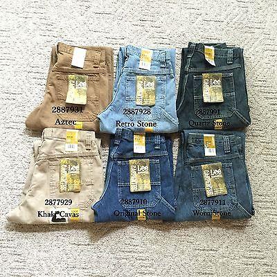 New Lee Carpenter Jeans Dungarees Denim Straight Loose Fit Men's Sizes 10 Colors Carpenter Loose Straight Jeans