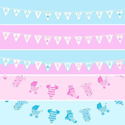 Baby Dusche Tischdeko / Geschenk - Baby Fahnentuch Junge Mädchen Unisex