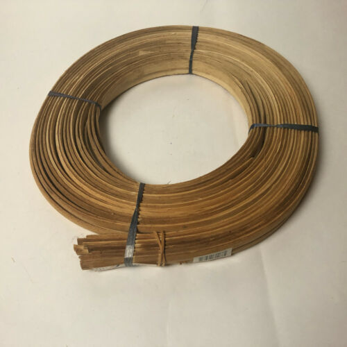 """Basket Weaving Making Reed Flat Oval  1/2"""" 1lb New Roll Natural Color"""