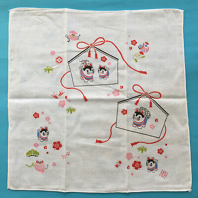 F/S Cute Kawaii Animal of Year 2018 Dog Gauze Cloth Handkerchief made in Japan