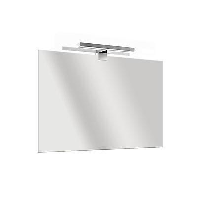 Specchio per bagno 70x80 spessore 5 mm + lampada 30 cm led risparmio energetico