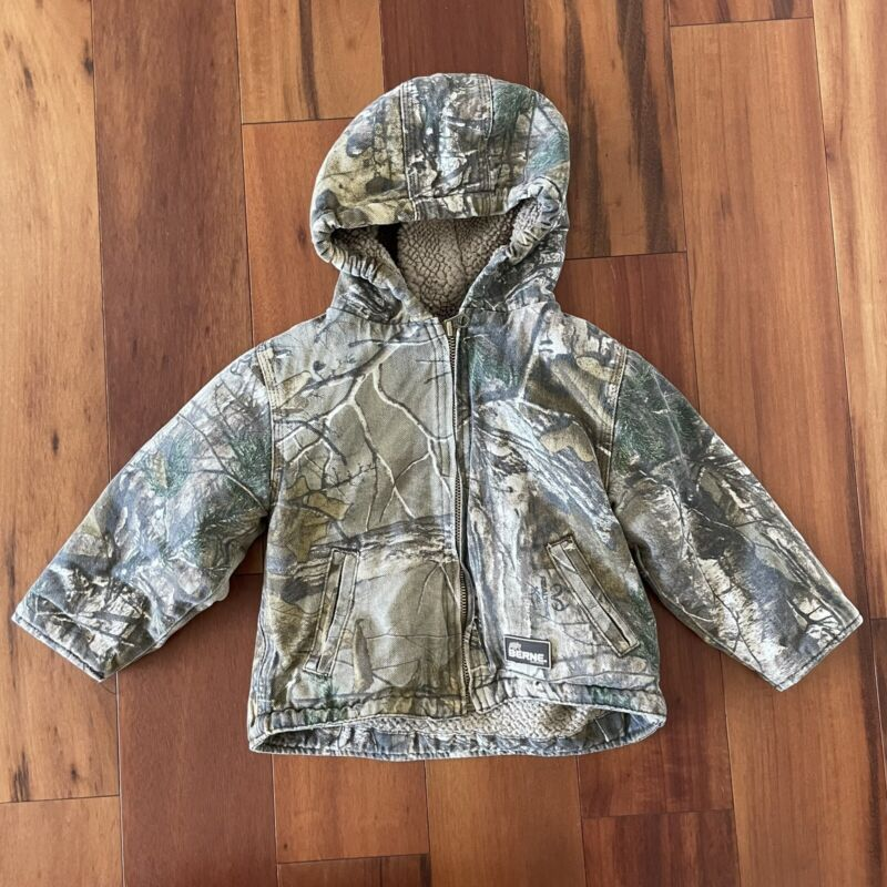 Berne Size 24 Month Toddler Boys/Girls Realtree Camouflage Fleece Lined Jacket