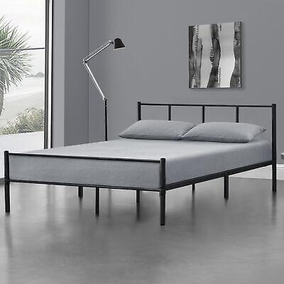 [en.casa] Metallbett 160x200 Schwarz Bettgestell Design Bett Schlafzimmer Metall