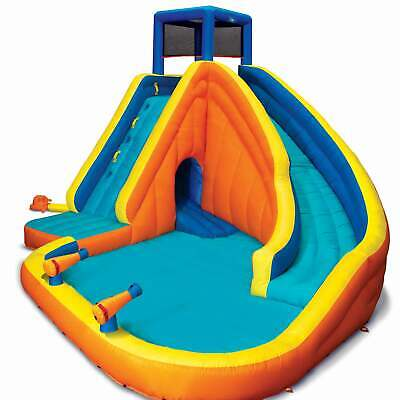 Banzai 23524 Sidewinder Falls Inflatable Water Slide with Tunnel Ramp...