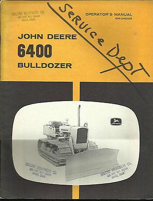 John Deere 6400 Bulldozer Operators Manual