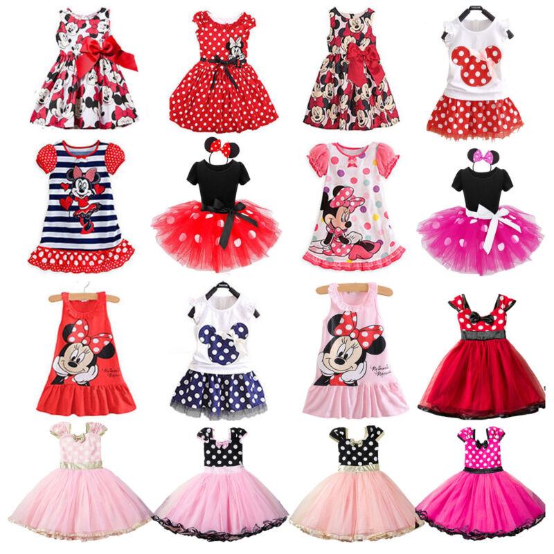 Minnie Mouse Kinder Mädchen Partykleid Kostüm Ballett Tutu Kleid Sommer Kleidung