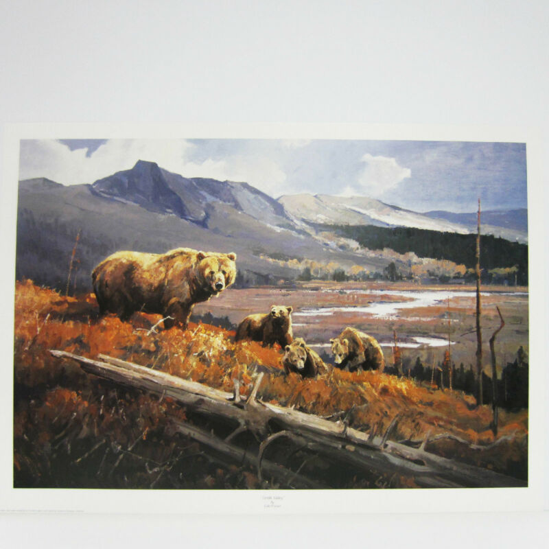 Fertile Valley by Luke Frazier  Wildelife Grizzly Bears