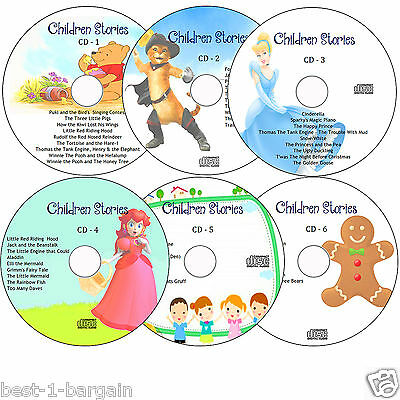 53 Children's Audio Story Books on 6 CD's Classic Children Kids Fairy Stories CD