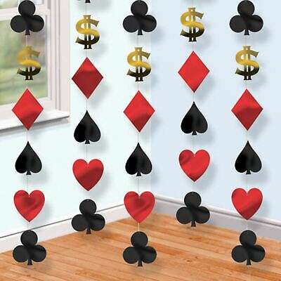 of Cards Poker Vegas Theme Party Hanging String Decorations (Casino Theme Decorations)