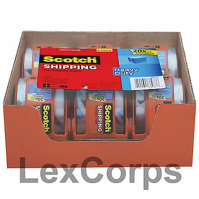 Scotch Heavy Duty Shipping Packaging Tape 1.88 Inches X 800 Inches 6 Rolls 22yds