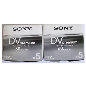 10-Sony-Mini-DV-MiniDV-60-90-min-minutes-premium-DVC-tapes-NEW-FreeShip-au