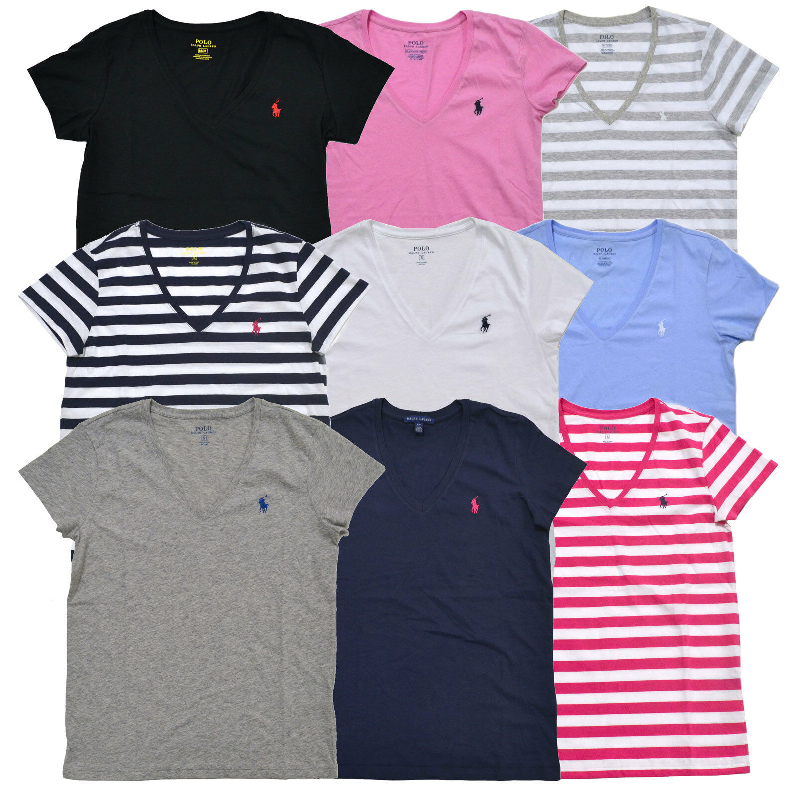 Womens Ralph Lauren Polo V Neck Tees Rockwall Auction