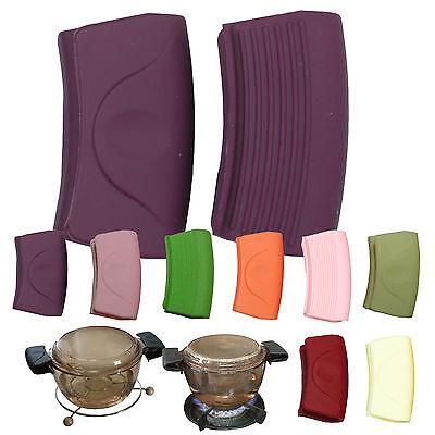 Pair of Hot Cookware Potholder Non Slip Silicorne Purple Silicone Sephar