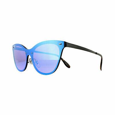Ray Ban Sunglasses Blaze Cat Eye RB3580N 1537V 43 Black Dark Violet Mirror (Ray Ban Sunglasses Cat Eye)