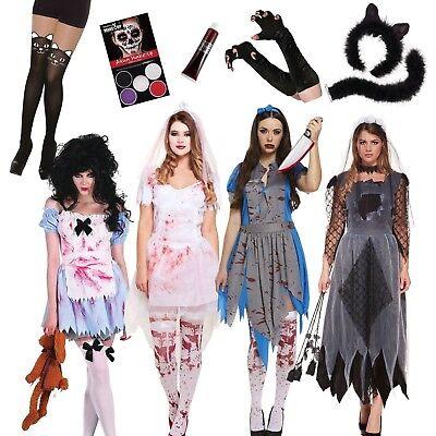 Mujer Disfraz de Halloween Zombie Diadema Enfermera Novia Gato Sexy + Gratis