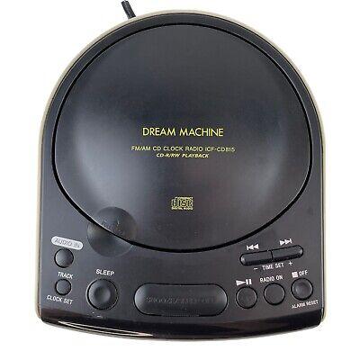Sony Dream Machine ICF-CD815 Dual Alarm LED Clock FM/AM Radio CD Player AUX in