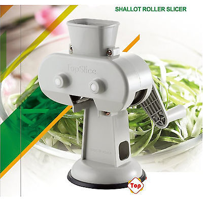Suction Fixing Green Onion (Shallot) Roller Slicer for home and restaurant