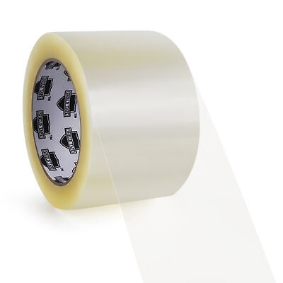 3 Inch x 110 Yards Clear Packing Tape 1.6 Mil Self Adhesive Seal Tapes 192 Rolls