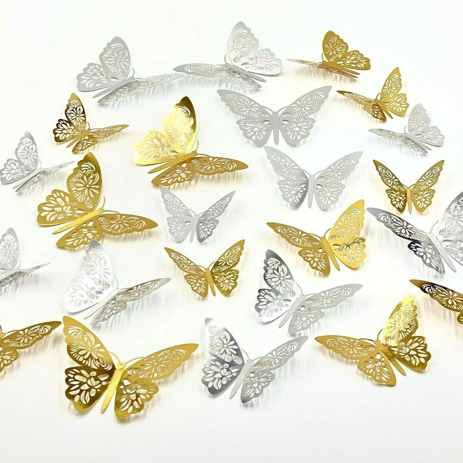 Home Decoration - 12pcs 3D Butterfly Wall Stickers Art Decals Home All Room Decorations Decor Kid