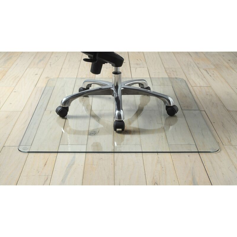 """Lorell Chairmat Tempered Glass 48""""Wx60""""Lx1/4""""H Clear 82835"""