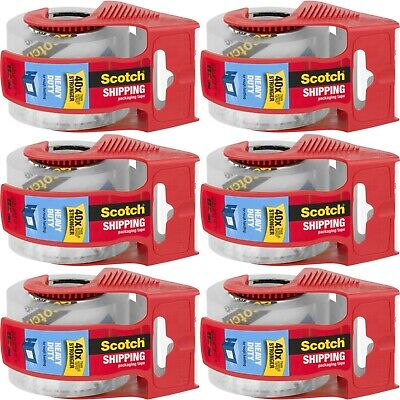 Scotch Heavy Duty Shipping Packaging Tape 1.88 X 1000 6 Pack