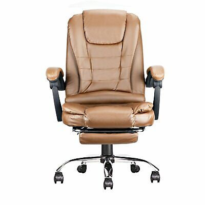 Executive Ergonomic Office Chair Leather High Back Computer Gaming Desk Task