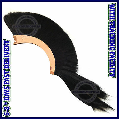 HALLOWEEN BLACK PLUME black CREST Nylon Hair For CORINTHIAN HELMET