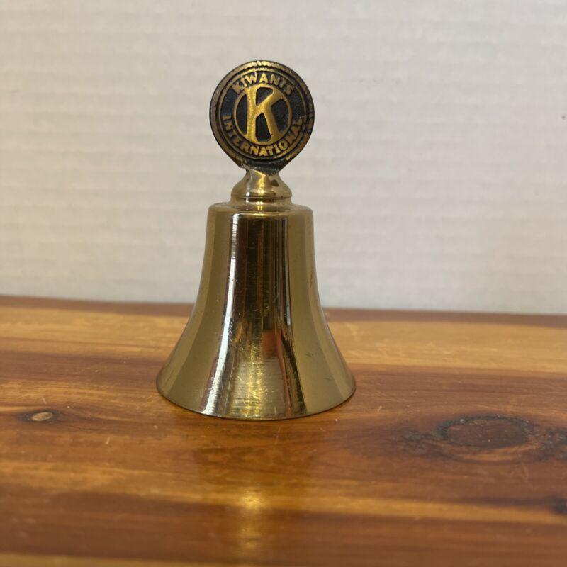 "Vintage Kiwanis International Club 3"" Brass Bell"