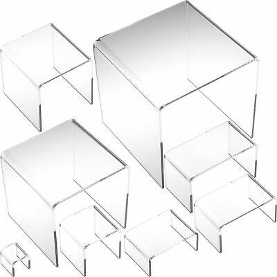 8 Clear Acrylic Jewelry Display Risers