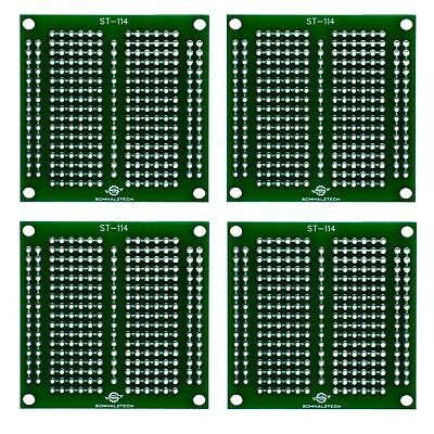 4 Pack Diy Proto Perf Board Permanent Breadboard With Solder Mask 2x2 St-114