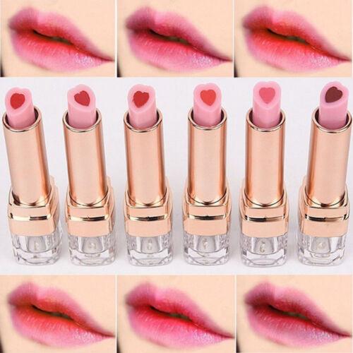 Korean Makeup Love Heart Long Lasting Nude Lipstick Lip Gloss Beauty Cosmetics H