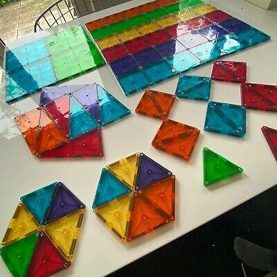 Super lot de 100 translucide colorés Magna Tiles de People & Co