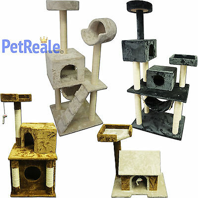 Cat Tree Pet Furniture Condo House Scratch Post Kitten Be...