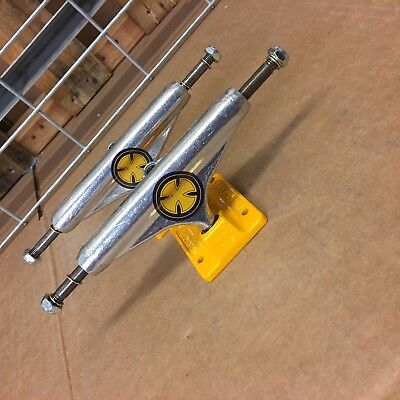 New Independent 139 Stage 11 Strike Cross Polished Yellow Skateboard Trucks