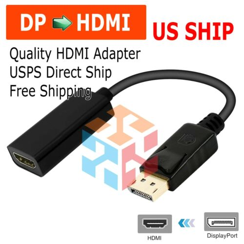 Display Port to HDMI Male Female Adapter Converter Cable DisplayPort DP to HDMI