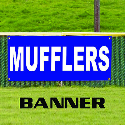 Mufflers Auto Parts Silencer Bikes Generators Banner Sign