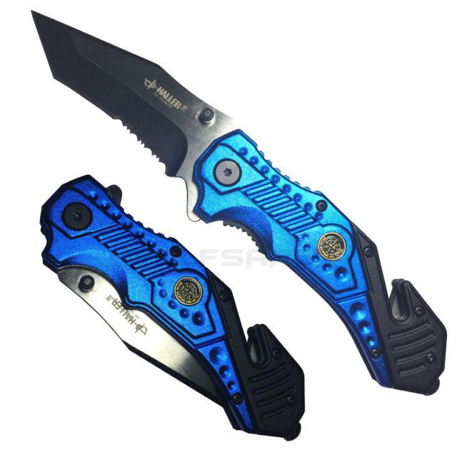 Haller - Rescue VI Taschenmesser blau/schwarz - Rettungsmesser,Gurtschneider NEU