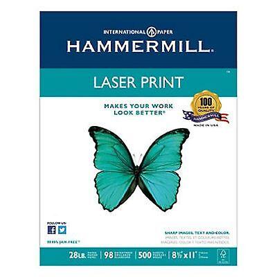 Hammermill Laser Print Paper 28lb 98 Bright 8-12 X 11 - Ream 2 Pack