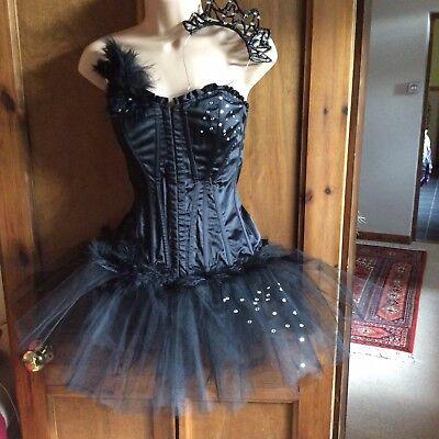 Black Swan Fancy Dress Costume, Adult, S, Unique Headdress, Movie Night, NWOT