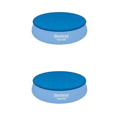 Bestway Flowclear Fast Set Pool Debris Cover for 15 Foot Round Pools (2 Pack)