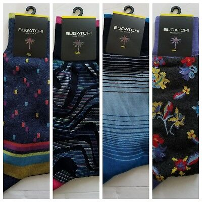 NWT Bugatchi Men's Mercerized Cotton Dress Socks  Italy One Size (Mercerized Dress Socks)