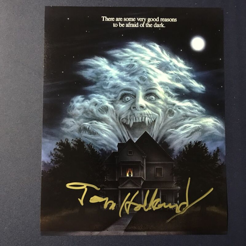 TOM HOLLAND SIGNED 8x10 PHOTO HORROR MOVIE DIRECTOR AUTOGRAPH FRIGHT NIGHT COA