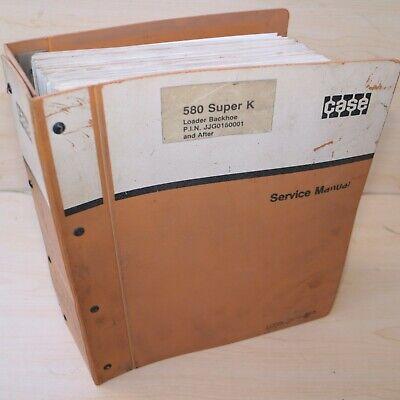 Case 580 Super K Backhoe Loader Repair Shop Service Manual Overhaul Guide 1992