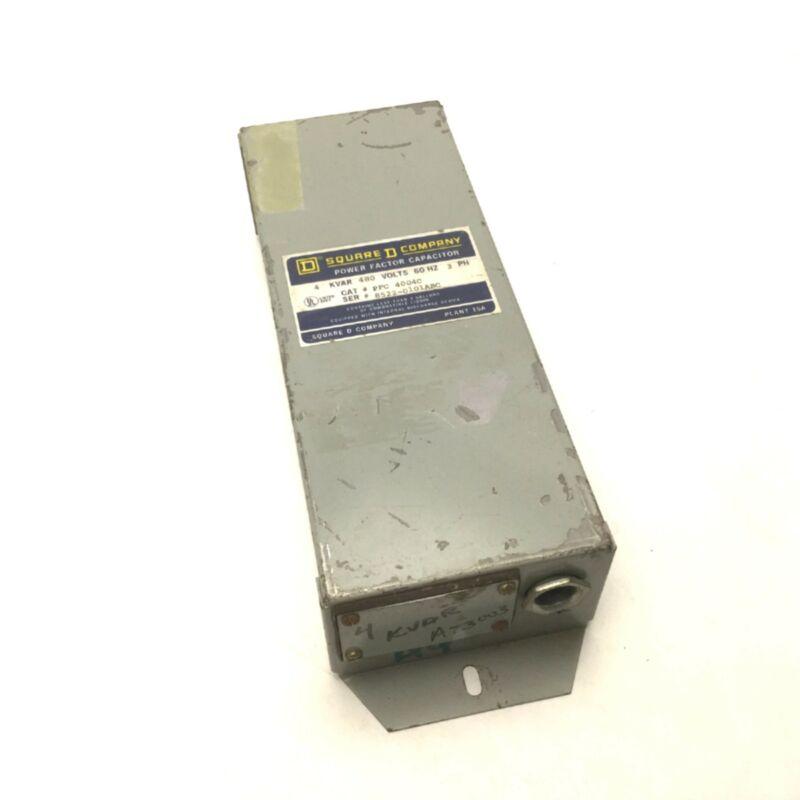 Square D PFC 4004C Power Factor Correction Capacitor, 4 KVAR, 480V 60Hz, 3 Phase