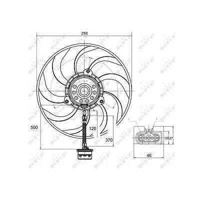 Genuine NRF Engine Cooling Radiator Fan - 47373