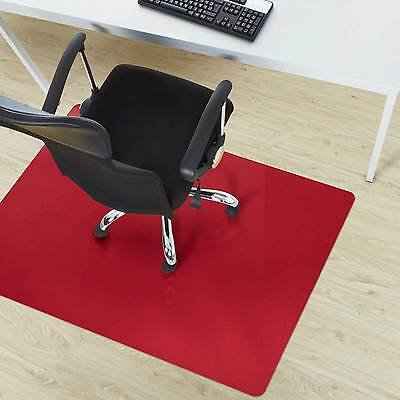 Red Home Office Chair Mat * Non Slip Computer Desk Mat * Floor Protection Cover